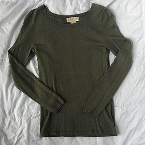 Michael Kors silk / cashmere blend fitted sweater
